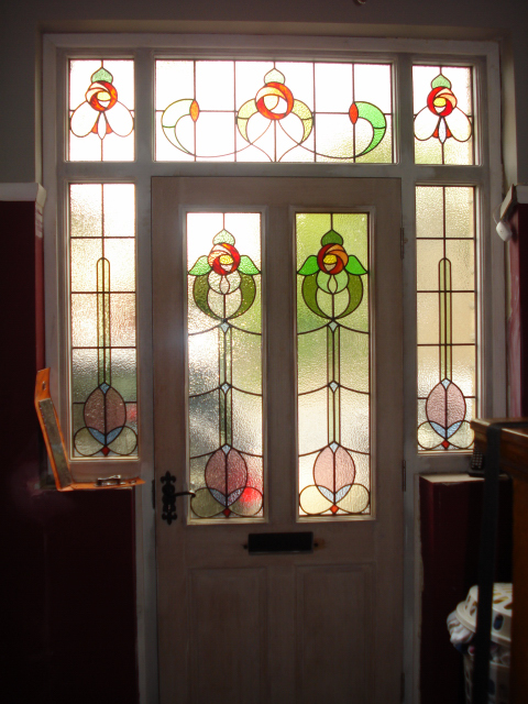 Holme valley stained glass photo gallery photographs and for Double glazed glass panels