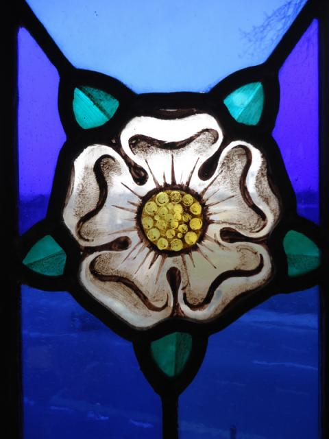 Fantastic Quality Antique Hand Painted Stained Glass