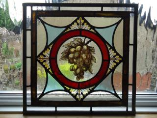 Antique Victorian leaded glass