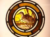 Victorian stained glass roundell