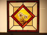 Victorian hand painted stained glass