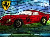 stained glass car