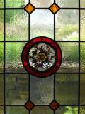 stained glass Yorkshire rose