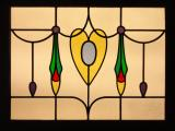 Edwardian style leaded glass