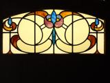 Art Nouveau leaded glass