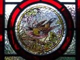 Stained glass bird rondell