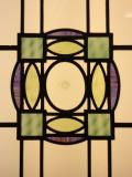Antique Art Deco stained and leaded glass